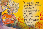 Womyn Posters - Invitation In Hand Poster by Ilisa  Millermoon