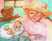 Hats Pastels - Invitation Only Tea Party by Sandra Valentini