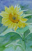 K Joann Russell Art - Inviting Sunflower Small Sunflower Art by K Joann Russell