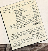 Slaves Metal Prints - Invoice Of A Sale Of Black Slaves Metal Print by Photo Researchers