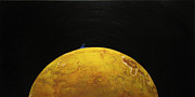 Planet System Paintings - Io by Jonathan E Raddatz