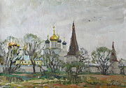 Russia Paintings - Iosifo-Volodsky monastery by Juliya Zhukova