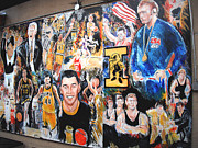 Jon Baldwin  Art - Iowa Hawkeye Mural Front Row Windsor Heights IA