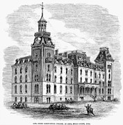 State College Prints - Iowa State College, 1871 Print by Granger