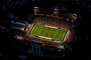 Night Game Framed Prints - Iowa State Jack Trice Stadium Aerial  Framed Print by Iowa State
