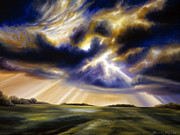 Lightning Paintings - Iowa Storms by James Christopher Hill