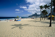 Bathing Photos - Ipanema Beach View by George Oze
