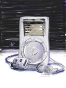 Music Ipod Digital Art Posters - iPod Poster by Russell Pierce