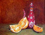 Lemons Painting Framed Prints - Iranian Lemons Framed Print by Enzie Shahmiri