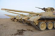 Army Tank Framed Prints - Iraqi T-72 Tanks From Iraqi Army Framed Print by Stocktrek Images