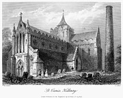 Church Yard Framed Prints - IRELAND: CATHEDRAL, c1840 Framed Print by Granger