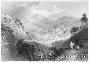 Mountain Valley Framed Prints - IRELAND: ENNISKERRY, c1840 Framed Print by Granger