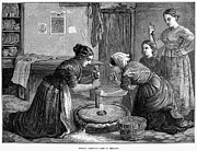 Kerchief Prints - Ireland: Hand Mill, 1874 Print by Granger