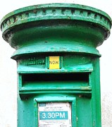 Melanie Cochrane-fallon Metal Prints - Ireland-Old green mail box Now- Galway Metal Print by Melanie Cochrane-Fallon