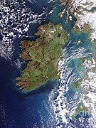Neagh Prints - Ireland, True-color Terra Modis Print by NASA / Science Source