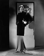 Irene Dunne, Modeling A Sapphire-velvet Print by Everett