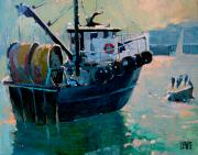 Fishingboat Posters - Irenes Way Poster by Robert Lewis