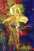 Eastern Europe Painting Prints - Iris Cosmic Print by Petro Beva