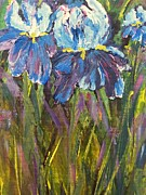 Iris Floral Garden Print by Claire Bull