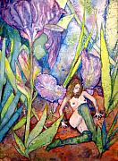 Sprite Paintings - Iris Grantor of Hope Wisdom And Inspiration - Watercolor by Donna Hanna