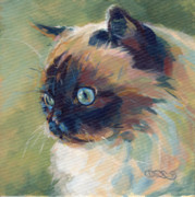 Persian Cat Paintings - Iris II by Kimberly Santini