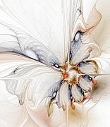 Gold Digital Art Prints - Iris Print by Amanda Moore
