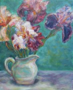 Quin Sweetman Paintings - Iris Medley by Quin Sweetman