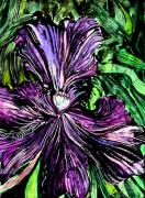 Violet Art Digital Art Prints - Iris Print by Mindy Newman