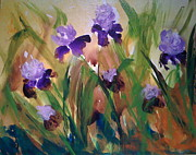 Log Cabin Art Paintings - Iris on a hot May day by Madison Latimer