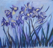 Floral Motif Paintings - Iris Painting Two by Betty Pieper