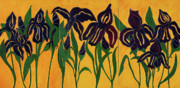 Flowers Acrylic Prints - Irises by Enzie Shahmiri