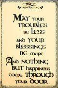 St. Patrick Posters - Irish Blessing Poster by Bill Cannon