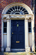 Hinged Framed Prints - Irish Blue Door Framed Print by Jeff Stein