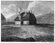 18th Century Prints - IRISH CABIN, 18th CENTURY Print by Granger