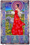 Jim Fitzpatrick Prints - Irish Celtic Fantasy Art Print - Boann Bru Na Boinne Print by Jim FitzPatrick