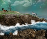 Ireland Digital Art - Irish Cliffs by Tanya Van Gorder