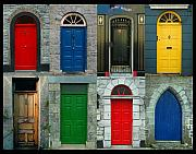 Irish Metal Prints - Irish Doors Metal Print by Joe Bonita