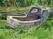 Small Boat Prints - Irish Fishing Boat Print by Donald Maier