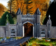 Castle Gates Framed Prints - Irish Gates Framed Print by Thom Murphy