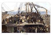Irish Immigrants, 1850 Print by Granger
