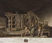 Manufacturing Posters - Irish Linen Manufacture, 1782. Interior Poster by Everett
