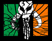 Sith Prints - Irish Mandalorian Flag Print by Dale Loos Jr