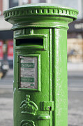 Postboxes Posters - Irish postbox Poster by Andrew  Michael