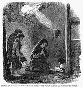 Slum Framed Prints - Irish Potato Famine, 1846-47 Framed Print by Granger