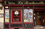 Tiles Framed Prints - Irish Pub in Spain Framed Print by John Greim