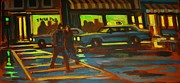 Crosswalk Paintings - Irish Pub by John Malone