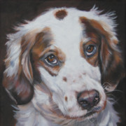 Dog Breeds R-s - Irish Red And White Setter by Lee Ann Shepard