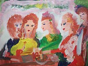 Shawl Painting Originals - Irish reunion by Judith Desrosiers