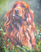 Irish Setter Framed Prints - Irish Setter Framed Print by Lee Ann Shepard