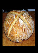 Food And Beverage Pyrography Originals - Irish Soda Bread by Emily Wilmoth